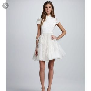 Alice & Olivia Gwen Feather Dress